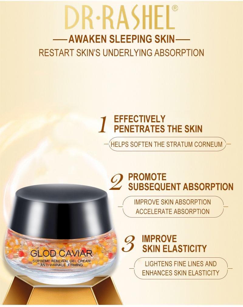 Gold Caviar Complex Anti-Wrinkle Luxury Regenerating Essence Gel Cream