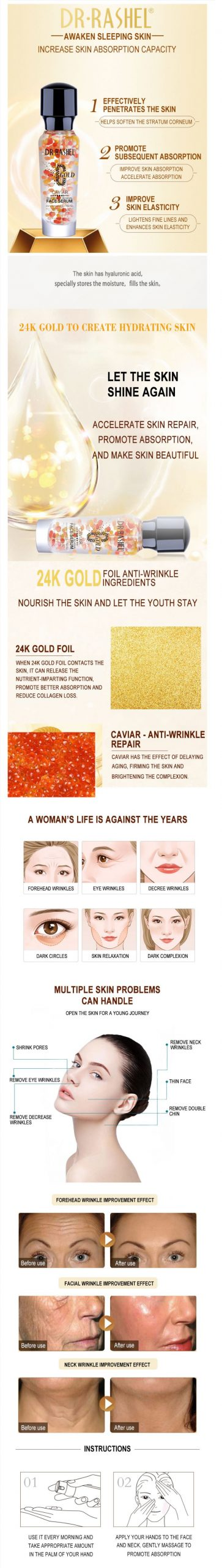 Dr Rashel caviar gold Face Serum Pakistan